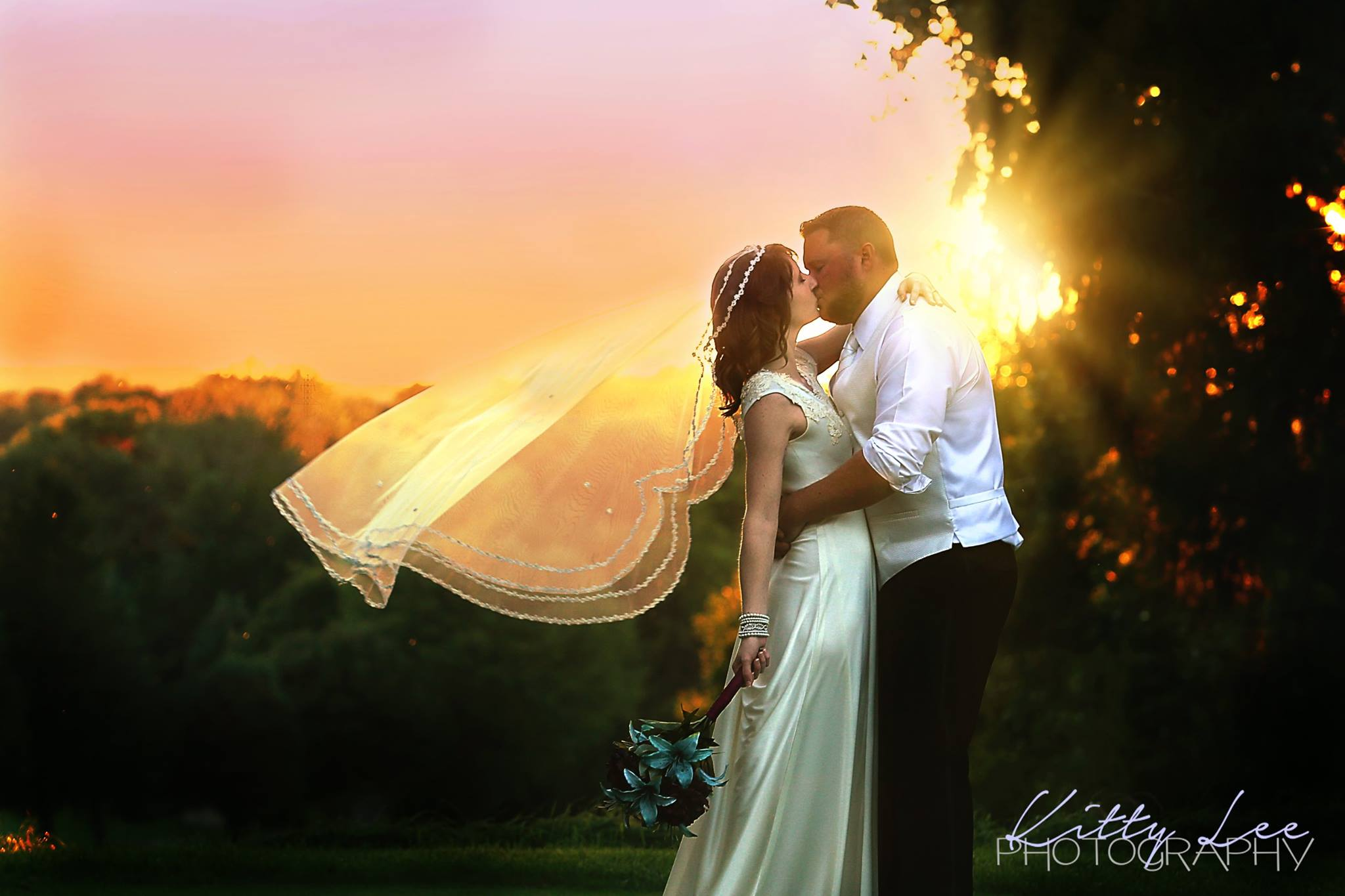 Lake Michigan Hills Bride and Groom